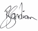Signature of Barry Sandison.