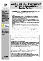 This data briefing presents findings from the Alcohol and Other Drug  Treatment Services National Minimum Data Set (AODTS-NMDS) for the ACT. 20c30d46476d